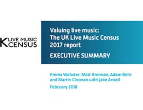 UK Live Music Census 2017